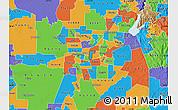 Political Map of ZIP code 95825