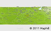 Physical Panoramic Map of ZIP code 95828