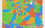 Political Map of ZIP code 95829