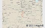 Shaded Relief Map of ZIP code 95832