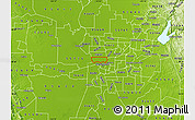Physical Map of ZIP code 95833