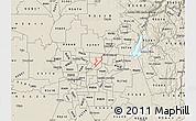 Shaded Relief Map of ZIP code 95842
