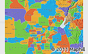 Political Map of ZIP code 95843
