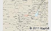 Shaded Relief Map of ZIP code 95843