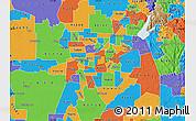 Political Map of ZIP code 95864