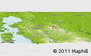 Physical Panoramic Map of Contra Costa County