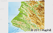 Physical Panoramic Map of Humboldt County
