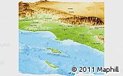 Physical Panoramic Map of Los Angeles County
