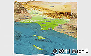 Free Physical Panoramic Map Of Los Angeles County