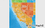 Political Shades Map of California