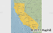 Savanna Style Map of California