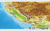 Physical Panoramic Map of California