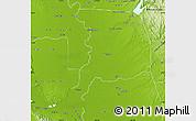 Physical Map of Sacramento County