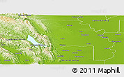 Physical Panoramic Map of Yolo County