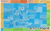 Political Shades 3D Map of Colorado