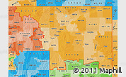 Political Shades Map of ZIP codes starting with 807