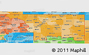 Political Shades Panoramic Map of ZIP codes starting with 807