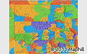 Political 3D Map of ZIP codes starting with 816