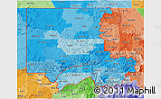 Political Shades 3D Map of ZIP codes starting with 816