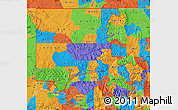 Political Map of ZIP codes starting with 816