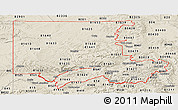 Classic Style Panoramic Map of ZIP codes starting with 816