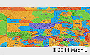 Political Panoramic Map of ZIP codes starting with 816