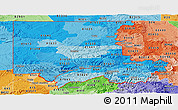Political Shades Panoramic Map of ZIP codes starting with 816