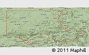 Savanna Style Panoramic Map of ZIP codes starting with 816
