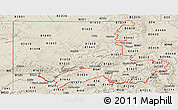 Shaded Relief Panoramic Map of ZIP codes starting with 816