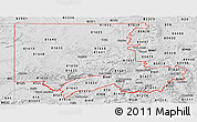 Silver Style Panoramic Map of ZIP codes starting with 816