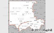 Gray Simple Map of ZIP codes starting with 816