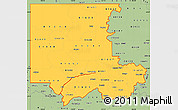 Savanna Style Simple Map of ZIP codes starting with 816