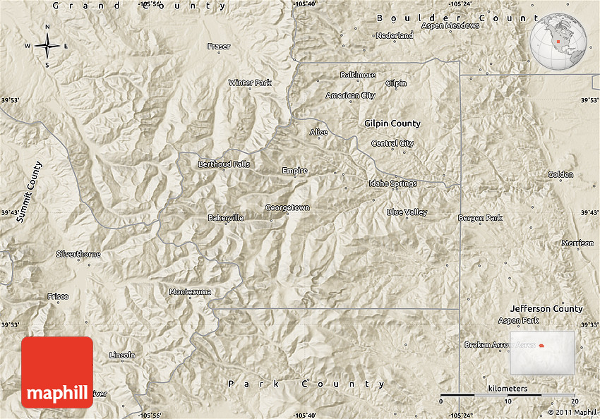 Shaded Relief Map of Clear Creek County on map of lone tree co, map of grand lake co, map of greenwood village co, map of parker co, map of las animas co, map of aspen co, map of idaho springs co, map of rocky mountain national park co, map of glenwood springs co, map of winter park co, map of brighton co, map of littleton co, map of northglenn co, map of wheat ridge co, map of canon city co, map of steamboat springs co, map of central city co, map of silver plume co, map of front range co, map of golden co,