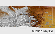 Physical Panoramic Map of Larimer County