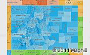 Political Shades Map of Colorado