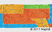 Political 3D Map of Montrose County