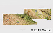 Satellite 3D Map of Montrose County, cropped outside