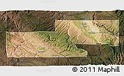 Satellite 3D Map of Montrose County, darken