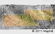Satellite 3D Map of Montrose County, desaturated