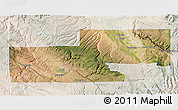 Satellite 3D Map of Montrose County, lighten