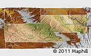 Satellite 3D Map of Montrose County, physical outside