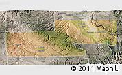 Satellite 3D Map of Montrose County, semi-desaturated