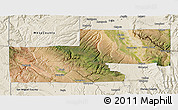 Satellite 3D Map of Montrose County, shaded relief outside