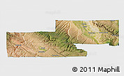 Satellite 3D Map of Montrose County, single color outside