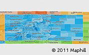 Political Shades Panoramic Map of Colorado