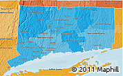 Political Shades 3D Map of Connecticut