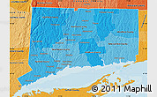 Political Shades Map of Connecticut