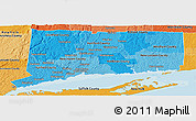 Political Shades Panoramic Map of Connecticut
