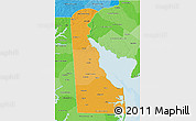 Political Shades 3D Map of Delaware