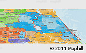 Political Shades Panoramic Map of ZIP codes starting with 321